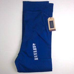Cherokee Maternity Straight Leg Blue Scrubs Size XS